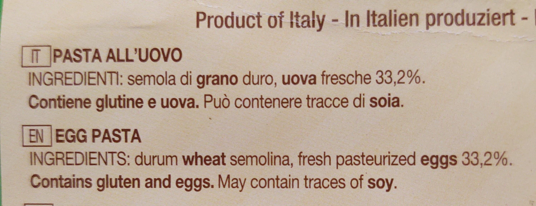 Maltagliati all'uovo - Ingredients - it