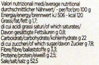 Preparato per brodo vegetale - Valori nutrizionali - it
