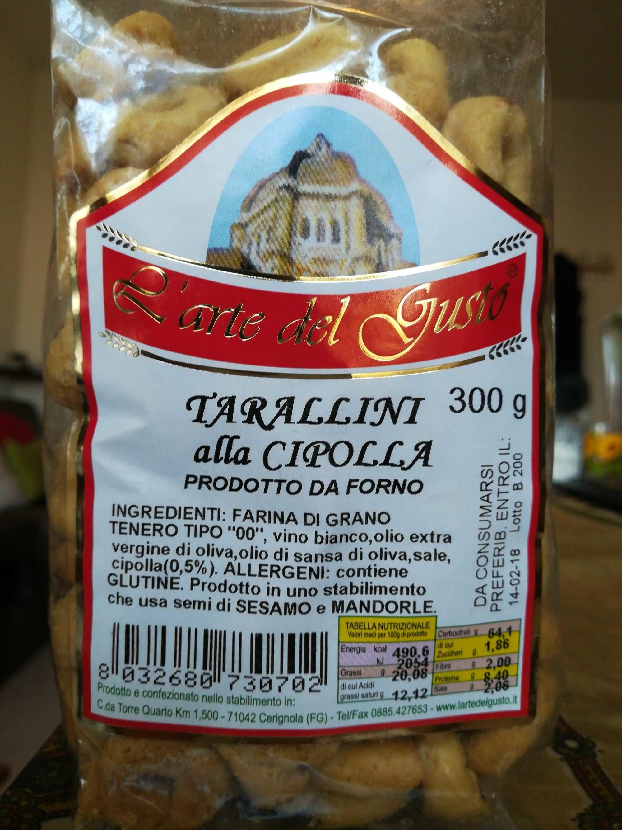Tarallini alla cipolla - Prodotto