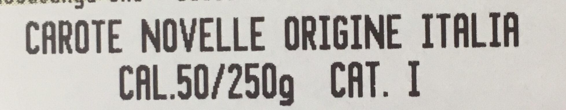 Carote novelle - Ingredients