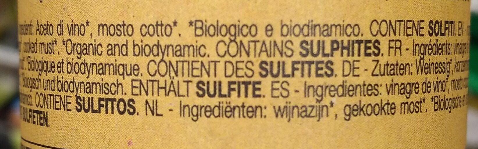 Vinaigre Balsamique 3 ans - Ingrediënten - fr