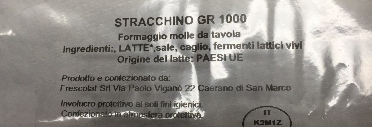 Stracchino - Ingrédients