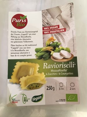 Ravioriselli Courgettes 250G Au Riz Complet Vegan - Product