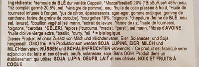 Ravioriselli Courgettes 250G Au Riz Complet Vegan - Ingrediënten