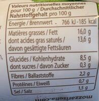 MozzaRisella - Informations nutritionnelles - fr
