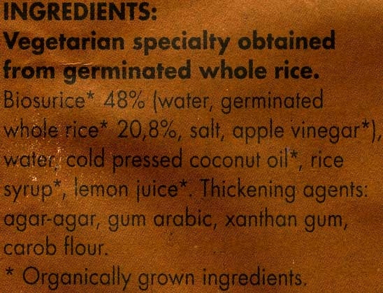 Vegetable cheese - Ingrédients - en