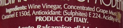 Balsamic vinegar of Modena, spray - Ingredients