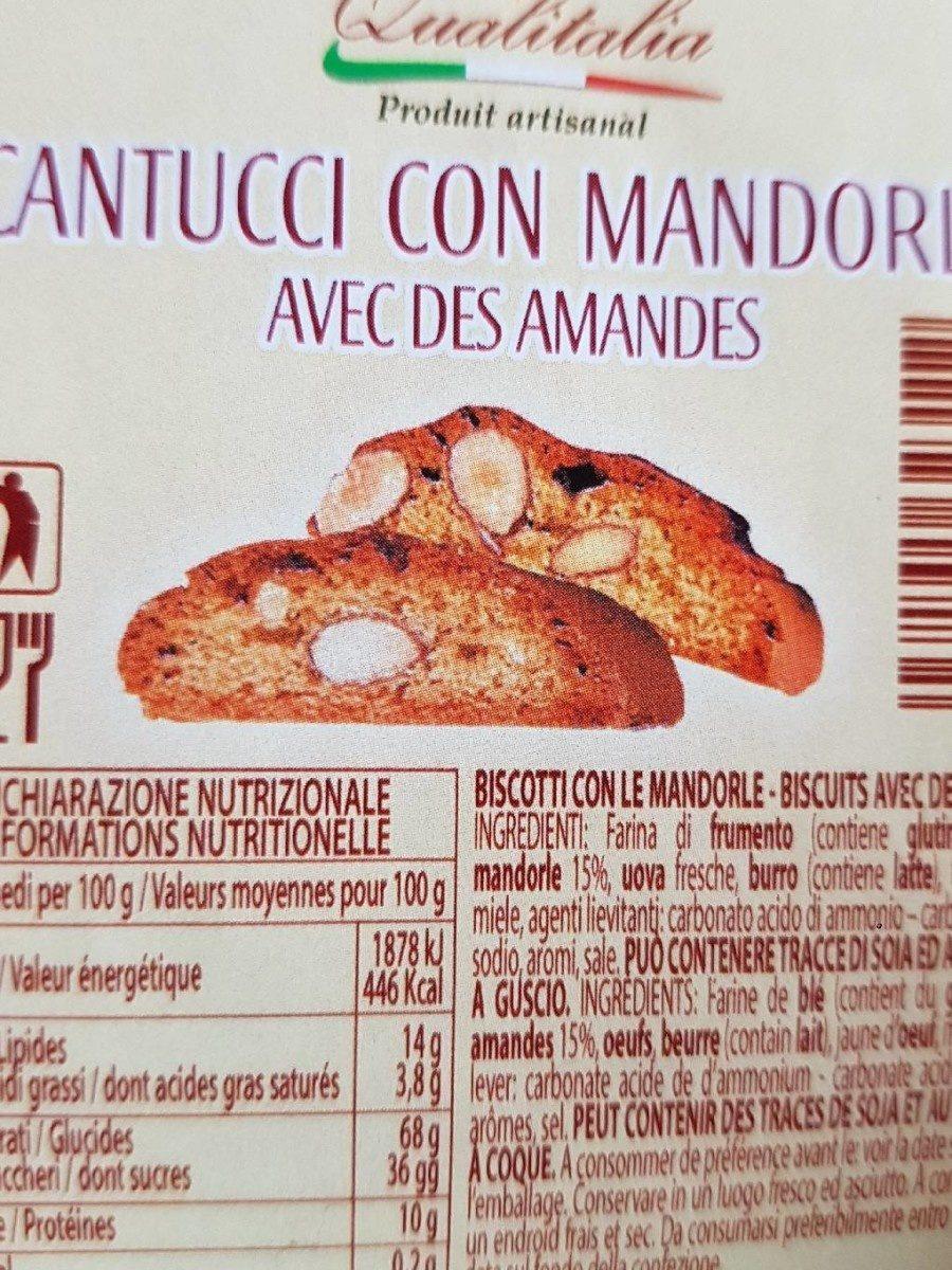 Cantucci con mandorle  a écrit des amandes - Product - fr