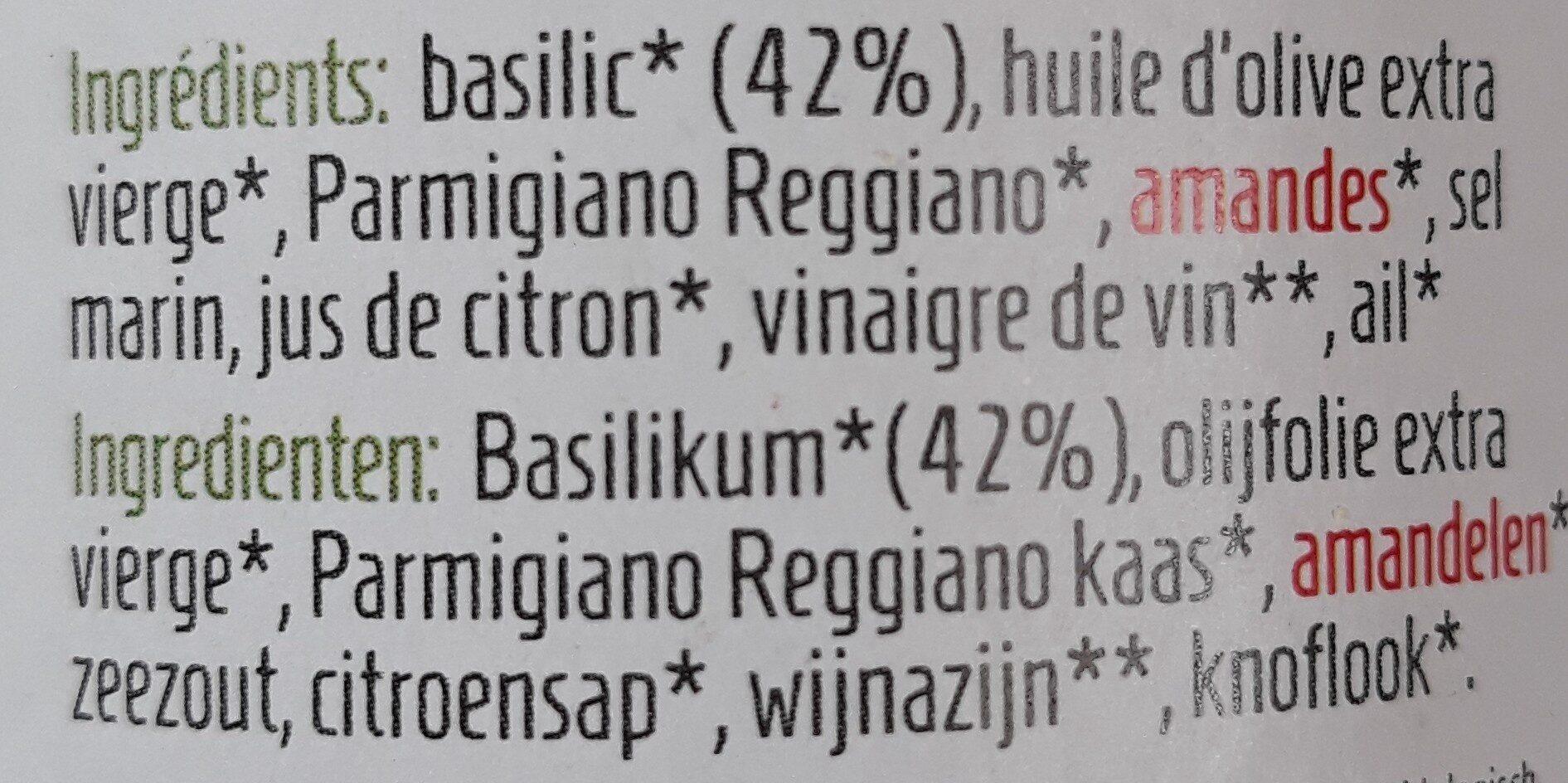 Pesto au basilic - Ingrediënten
