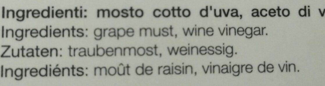 Vinaigre Balsamique De Modene Igp Goccia Nera 25CL - Ingrediënten
