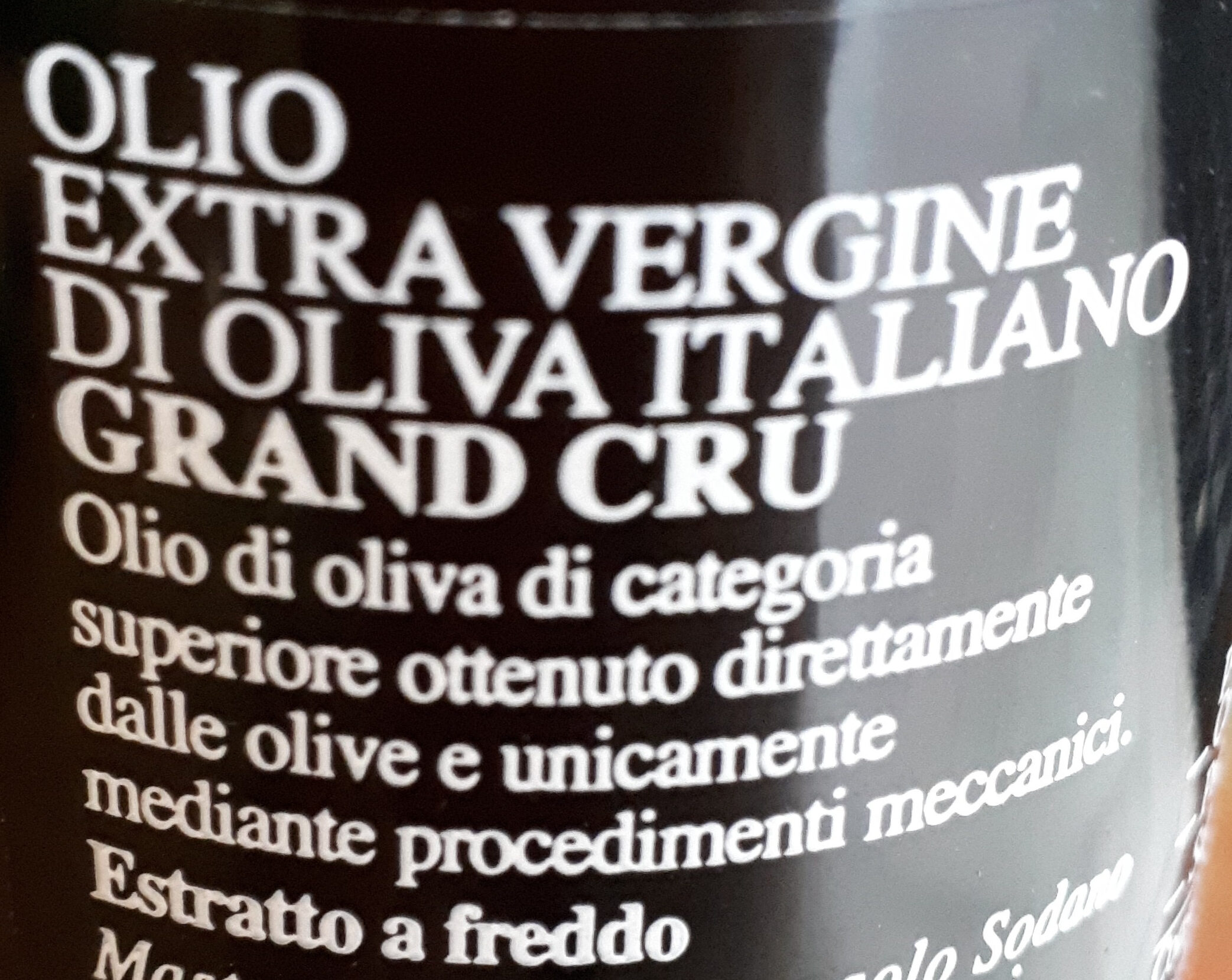 Olio Extravergine di oliva italiano - Ingrédients - it