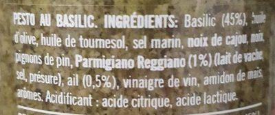 Pesto al basilico - Ingrédients