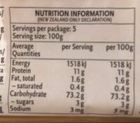 Spaghetti Hartweizen, Girolomoni - Nutrition facts - fr