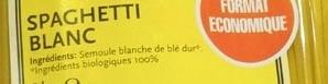 Spaghetti Blanc (Format Economique) - Ingrédients