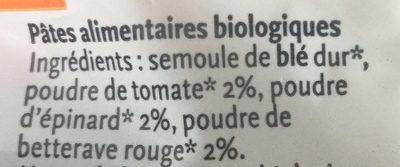 Alphabet Quatre Couleurs - Ingredients - fr