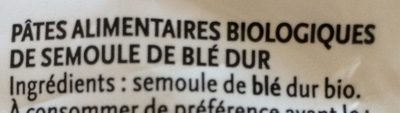 Spirale Blanc - Ingredients