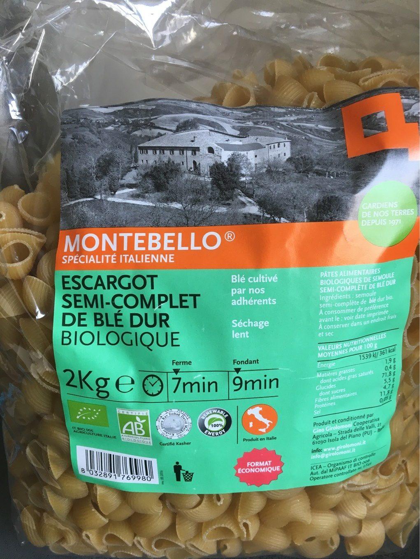 Escargot semi-complet de blé dur biologique - Produit - fr