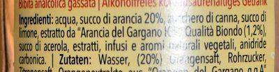 Orangeade / Aranciata - Ingredients - fr