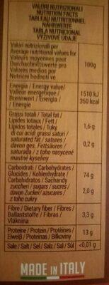La berbere couscous - Valori nutrizionali - fr