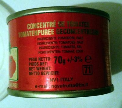 Nova tomato paste - Ingrediënten - nl