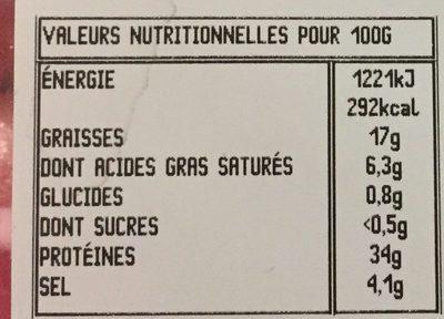 Speck - Voedingswaarden - fr