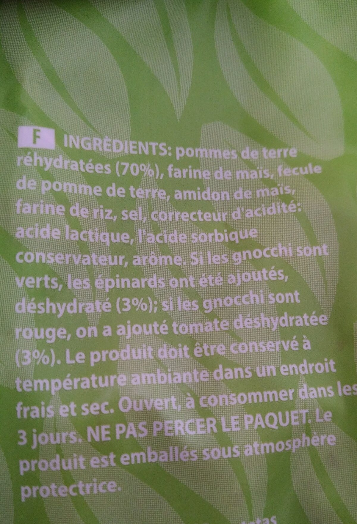Gnocchi di patate - Ingredients - fr