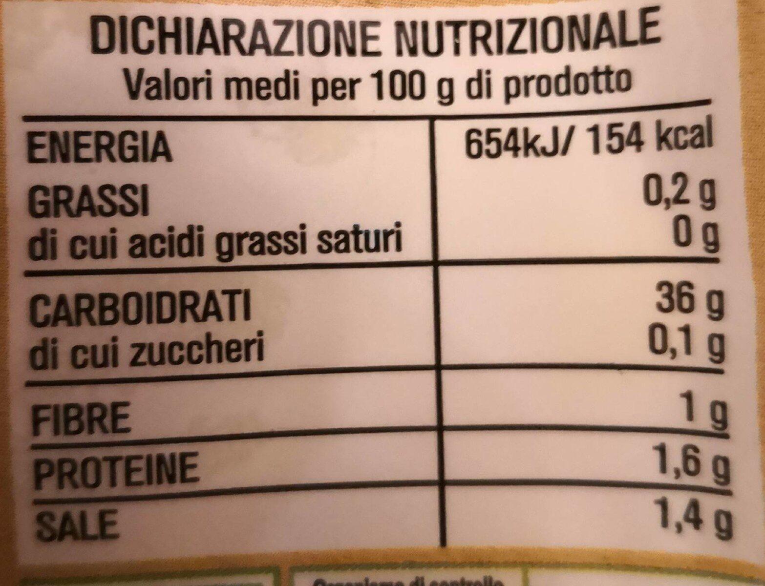 Gnocchi dIGPatate senza glutine biologici - Informations nutritionnelles - it