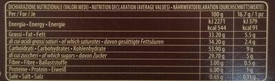 Grisbi Cioccolato - Informations nutritionnelles - it