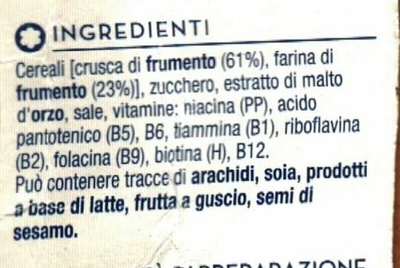 Bran sticks con 61 % di crusca - Ingredienti