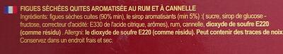 Fichi Cotti al Forno Aromatizzati al Rum - Ingrédients - fr