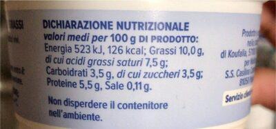 Yogurt greco - Informazioni nutrizionali - it