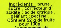 Confettura di Prugne - Ingrédients - fr