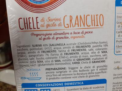 Chele di surimi al gusto di granchio - Ingredienti - it