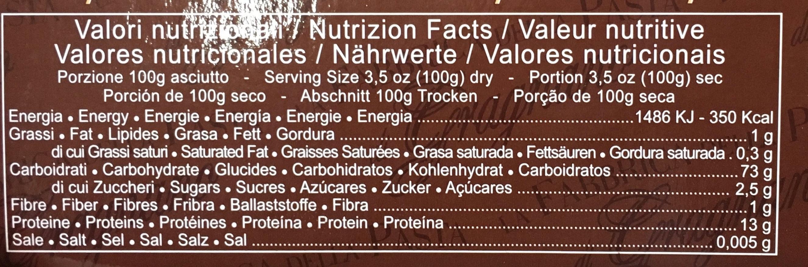 Caccavella (dans 4 terrines en terre cuite) - Informations nutritionnelles - fr