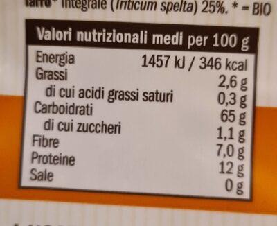 Farina di farro ai 3 farri - Informazioni nutrizionali - it