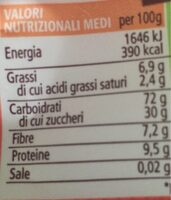 Farro soffiato al cioccolato bio - Informations nutritionnelles - fr