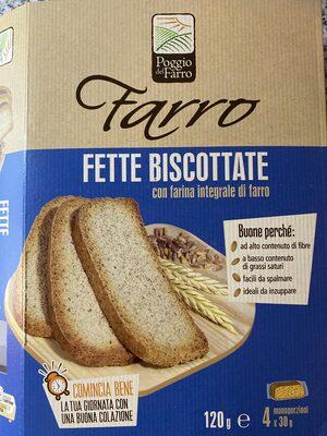 Fette biscottate - farina integrale di farro - Prodotto - it