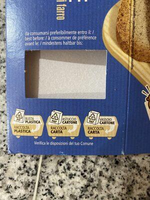 Fette biscottate - farina integrale di farro - Istruzioni per il riciclaggio e/o informazioni sull'imballaggio - it