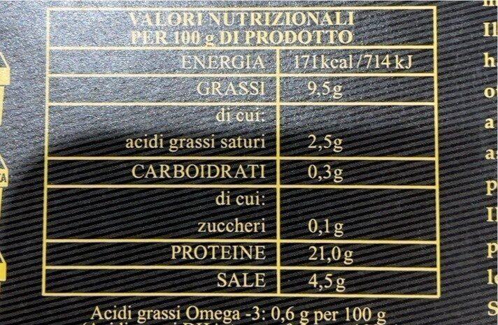 Filetto di salmone - Informations nutritionnelles - it
