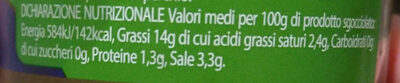 olive verdi denocciolate - Voedingswaarden - it
