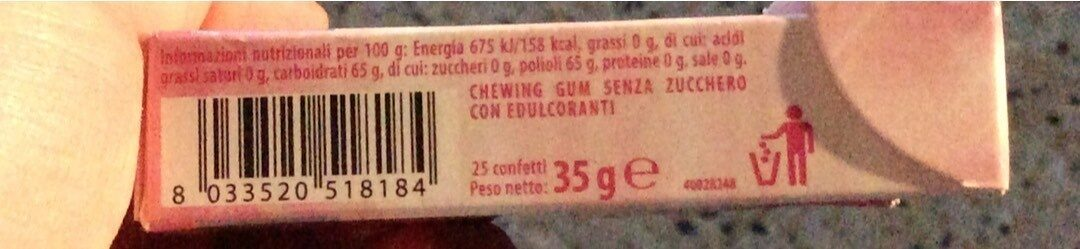 Dentax chewing gum - Nutrition facts - it
