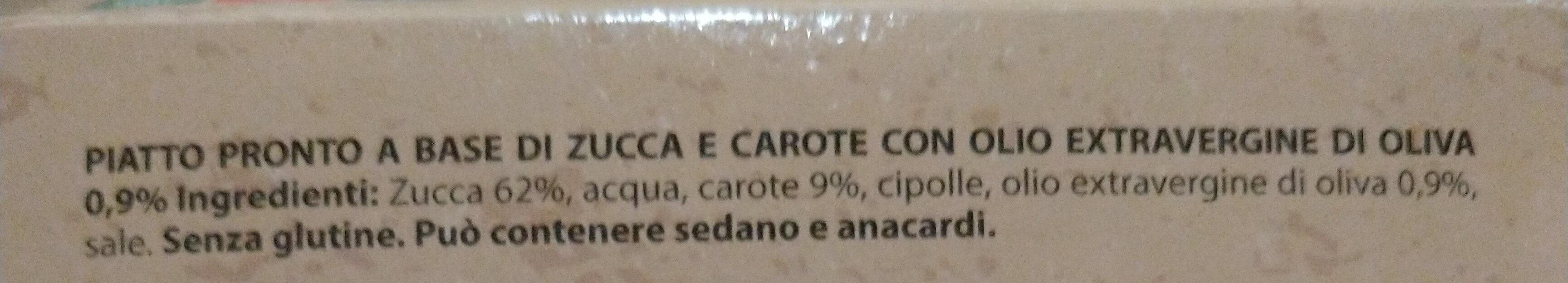 Passato di zucca con carote - Ingrédients - it