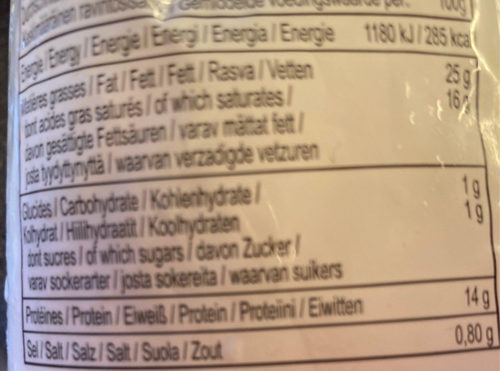 Mozzarella Di Bufala Campana - Voedingswaarden - it