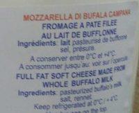 Mozzarella di bufala campana bille - Ingredients - en
