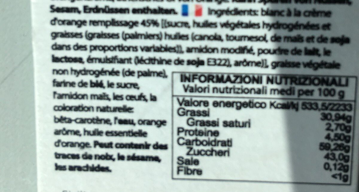 Dolcetti all arancia di Sicilia - Ingrédients - fr