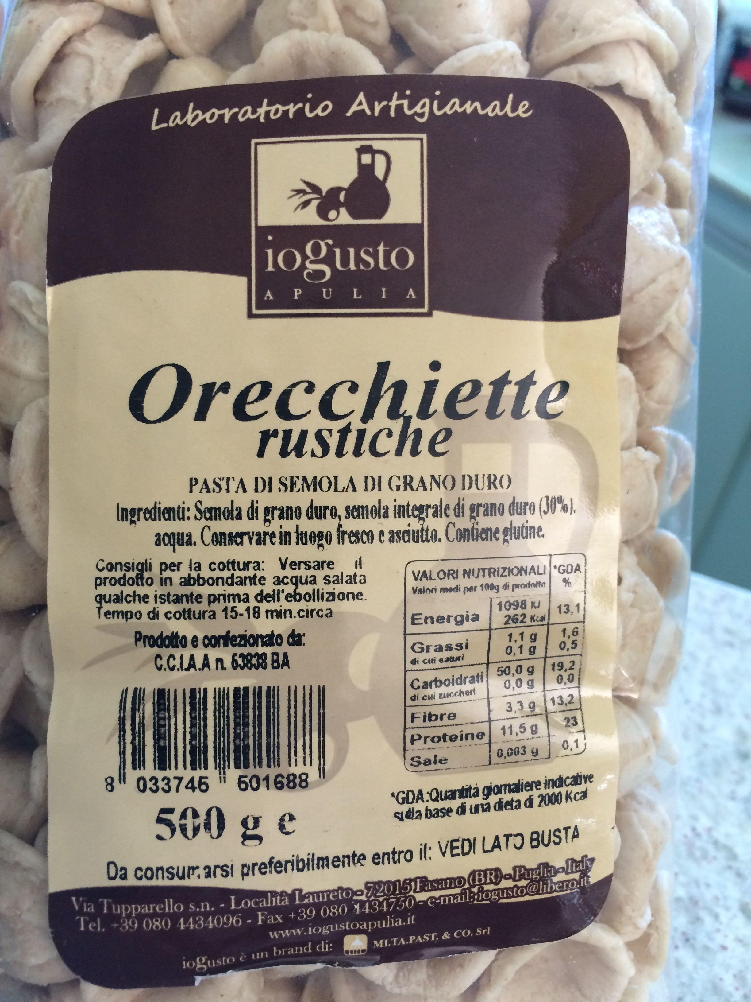 Orecchiette rustiche - Produit