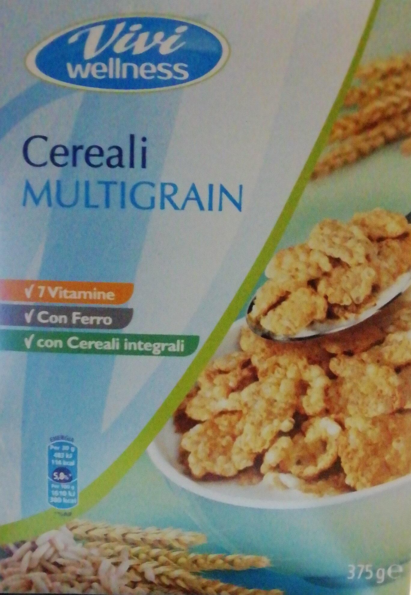 Cereali multigrain Fiocchi di riso e frumento integrale arricchiti con vitamine B1, B2, PP, B6, acido folico, B12, B5 e ferro - Produit - it