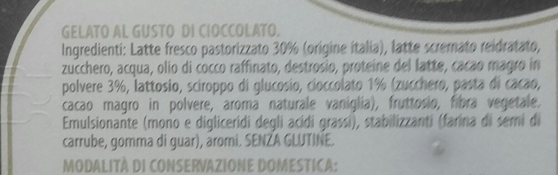 Gelato cioccolato - Ingrédients - it