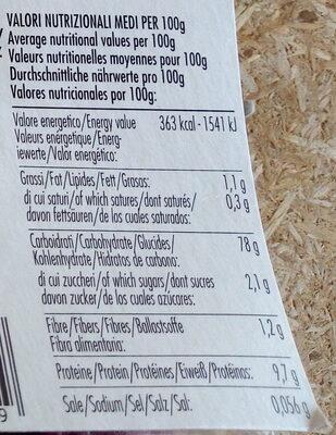 Fusilli de riz complet à la betterave bio sans gluten - Valori nutrizionali - fr