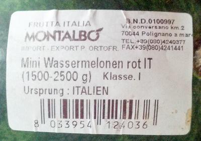 Mini Wassermelonen rot - Produit